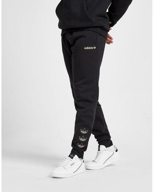 Adidas Originals Black Metallic Joggers for men