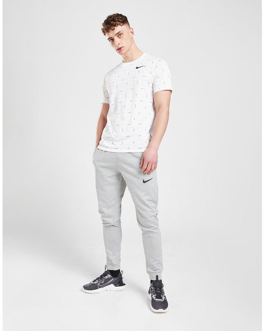 Nike Gray Dri-fit Tapered Joggers for men