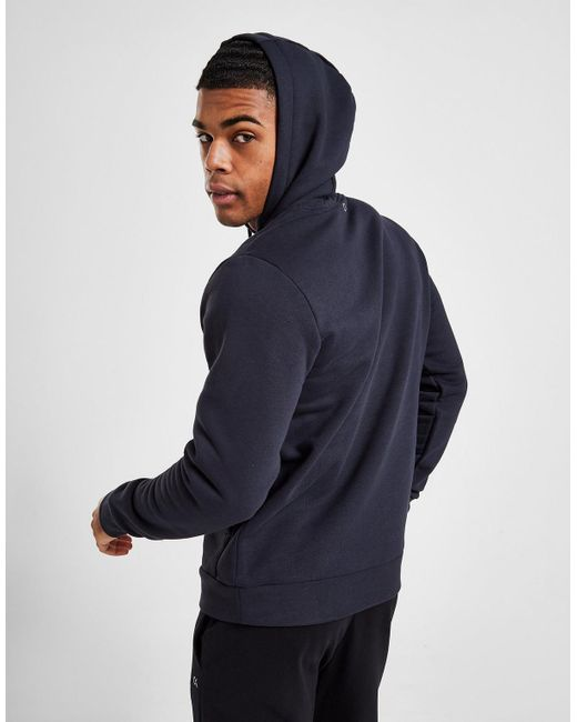 Calvin Klein Blue Core Fleece Overhead Hoodie for men