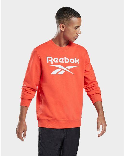 Reebok Red Identity Big Logo Crew for men