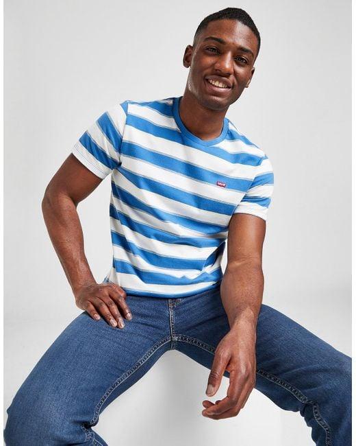 Levi's Blue Rugby Stripe T-shirt for men