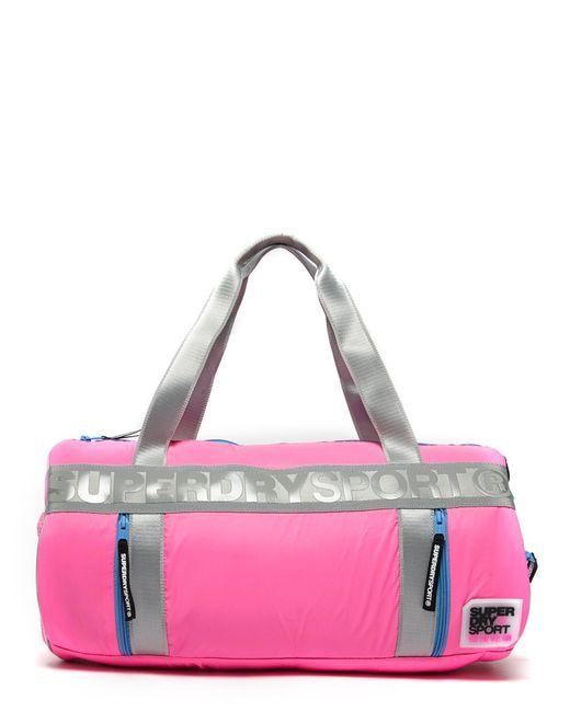 Superdry   Pink Sport Barrel Bag for Men   Lyst