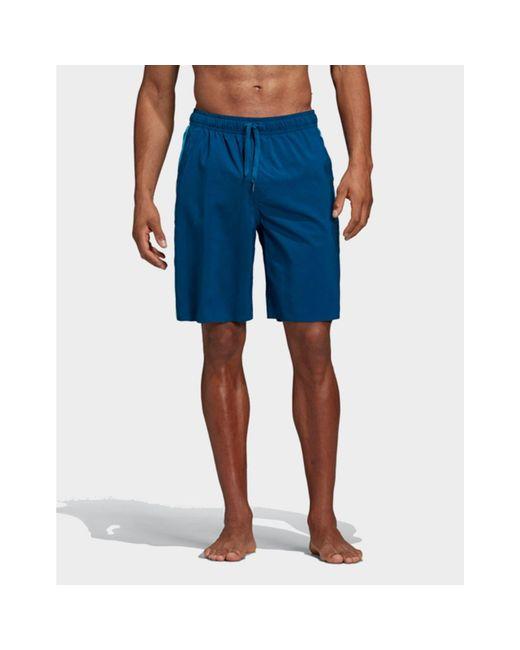 d8d759e56b Adidas Originals - Blue 3-stripes Swim Shorts for Men - Lyst ...
