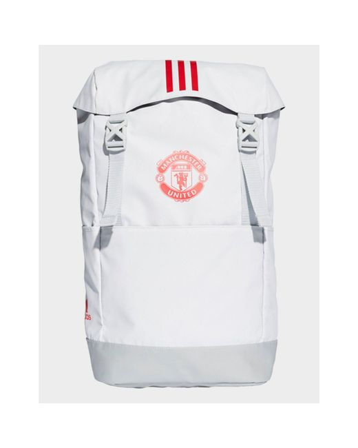 90a5d5368d Adidas - Gray Manchester United Backpack for Men - Lyst ...