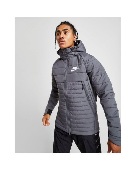 Nike Gray Advance 15 Synthetic Jacket for men