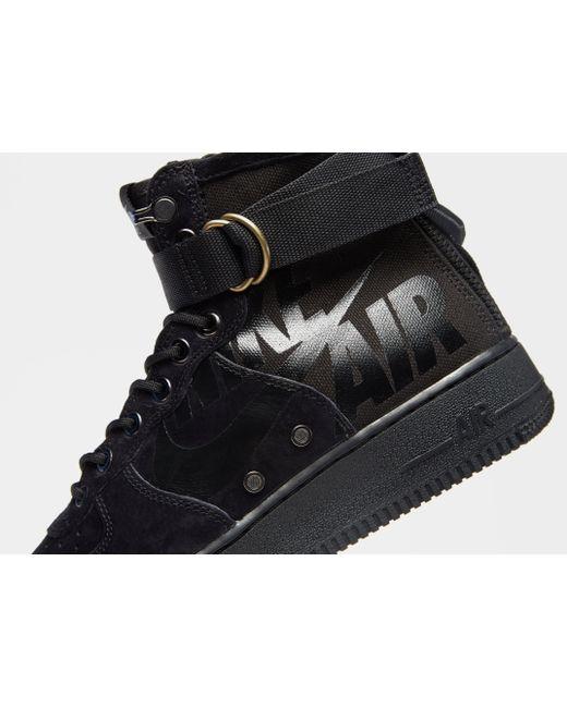 ... Nike - Black Sf Air Force 1 Mid for Men - Lyst ... 0140bd55b