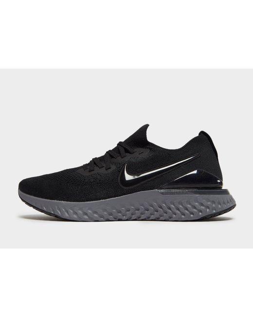 b84a582f6cde Nike - Black Epic React Flyknit 2 for Men - Lyst ...