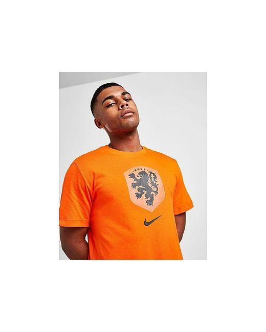 Nike Niederlande Crest T-Shirt Herren in Orange für Herren