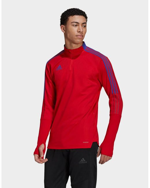 Adidas Red Tiro Primeblue Training Top for men