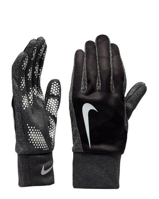 Nike Gloves Hyperwarm: Nike Hyperwarm Gloves In Gray For Men
