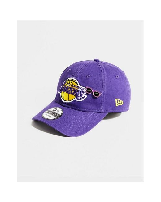 purchase cheap outlet boutique new products KTZ Cotton Nba 9twenty Los Angeles Lakers Badge Cap in Purple - Lyst