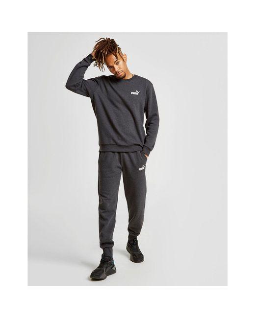 PUMA - Gray Core Fleece Joggers for Men - Lyst
