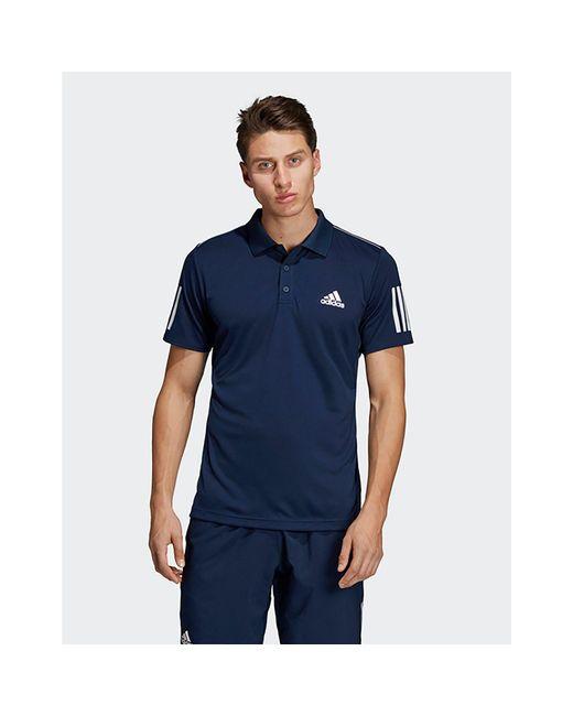 2920b8a1 Adidas - Blue 3-stripes Club Polo Shirt for Men - Lyst ...