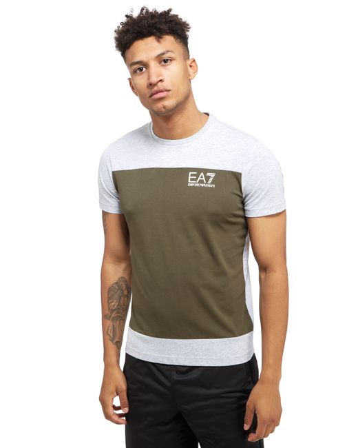 EA7 | Gray Carbon Block T-shirt for Men | Lyst