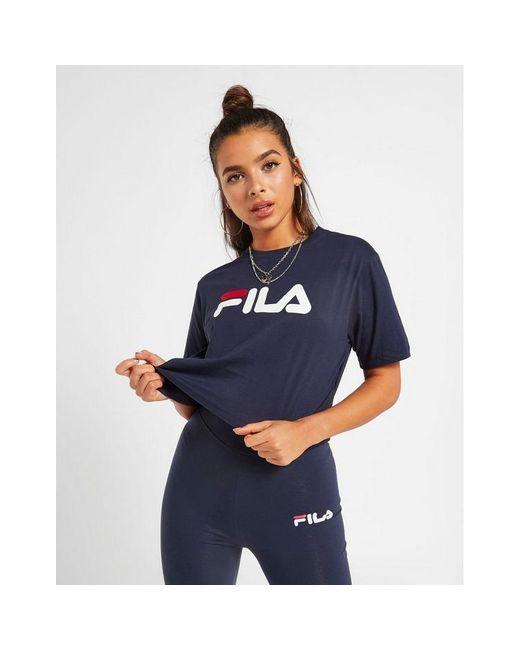 Fila Blue Core Logo Crop T-shirt