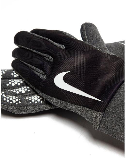 Nike Gloves Hyperwarm: Nike Hyperwarm Gloves In Grey For Men