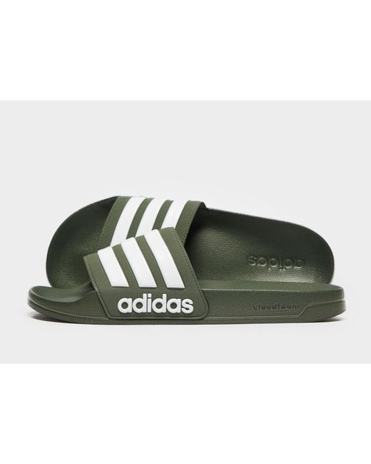 f6a472e13 Lyst - adidas Cloudfoam Adilette Slides in Green for Men - Save 10%