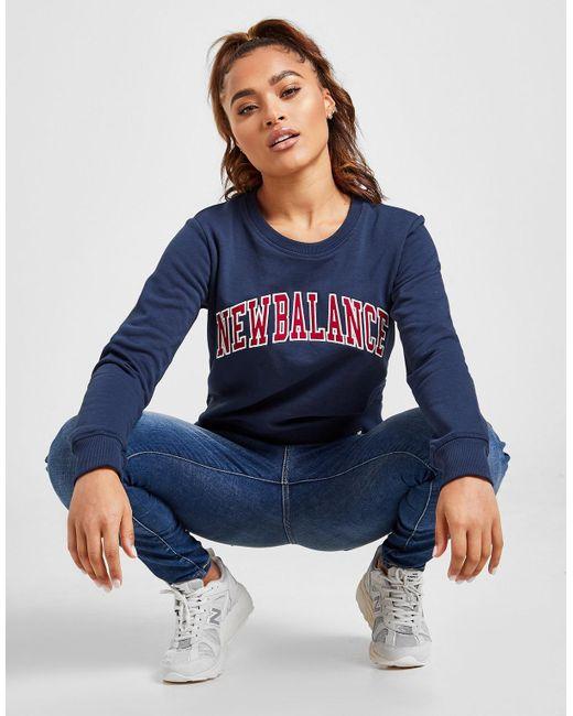 New Balance Blue Varsity Crew Sweatshirt
