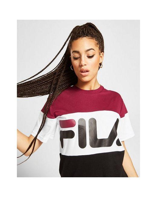 Fila Multicolor Colour Block Boyfriend T-shirt