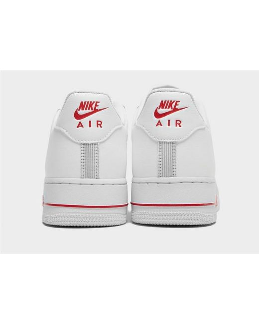 Nike Leather Air Force 1 Essential Jewel in WhitePlatinum