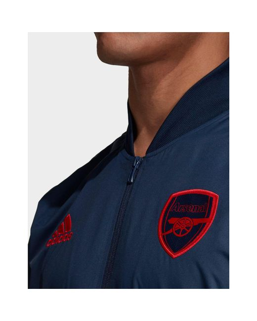 adidas Synthetic Arsenal Fc Anthem Jacket in Navy (Blue) for