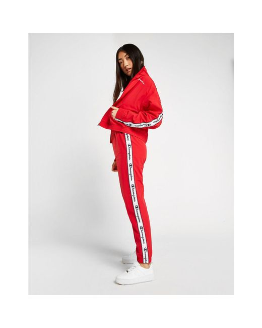 Champion Red Tape Woven Track Pants