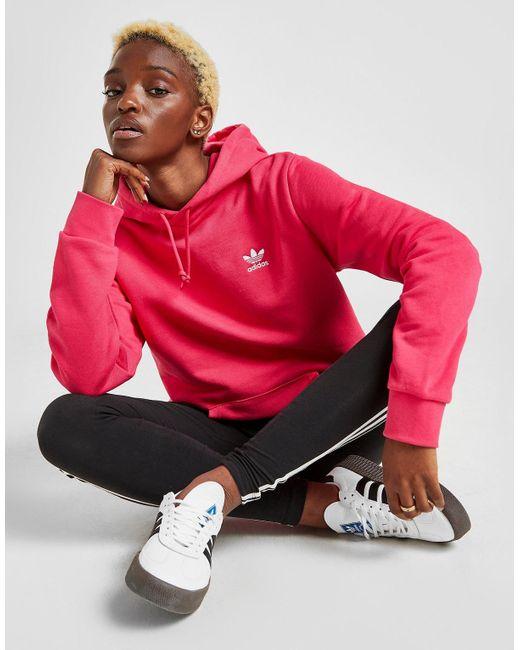 Adidas Originals Pink Boyfriend Trefoil Overhead Hoodie