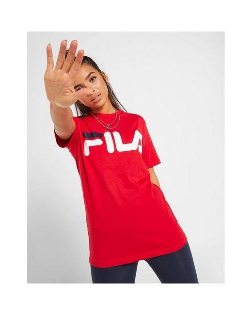 Fila Red Core Logo Boyfriend T-shirt