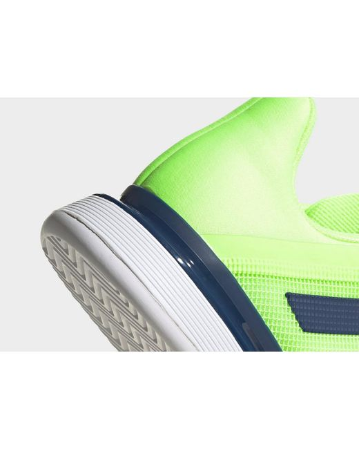 Adidas Green Solematch Bounce Hard Court Shoes for men