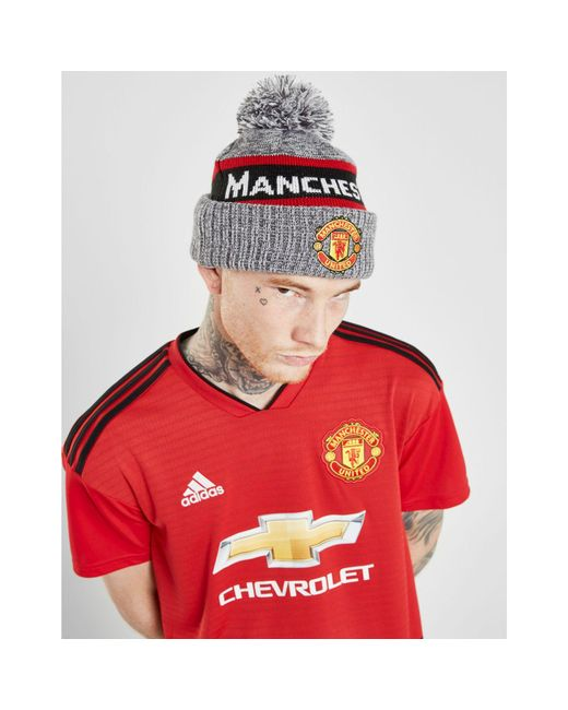 KTZ - Red Manchester United Fc Jake Bobble Hat for Men - Lyst ... 89dec636637