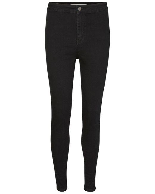 Noisy May Black Jeans NMELLA SUPER HW JEANS GU304