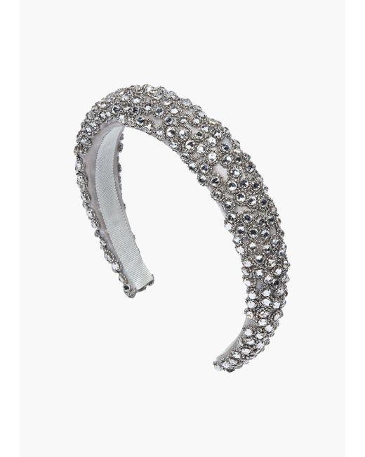 Jennifer Behr Metallic Suzette Headband