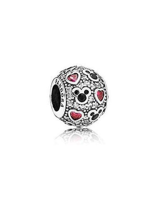 Pandora - Multicolor Silver Bead Sparkling Mickey Hearts Disney Cz Charm 791457cz - Lyst