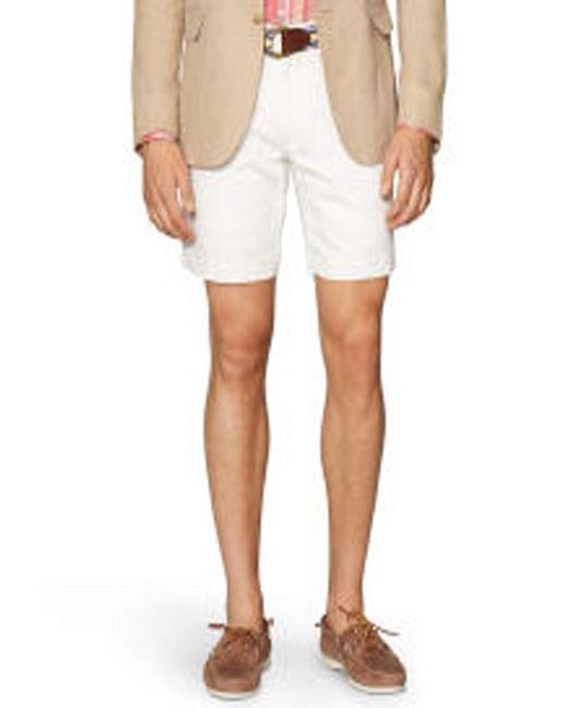 Polo Ralph Lauren | White Mens Straight Linen-cotton Shorts for Men | Lyst