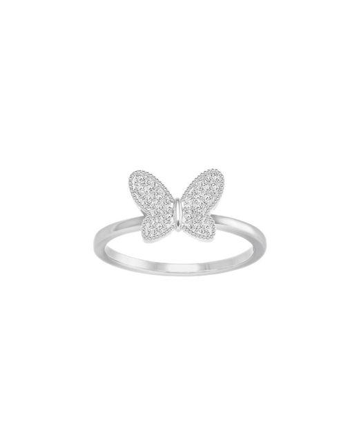 Swarovski | Metallic Field Butterfly Ring Size: 7 | Lyst
