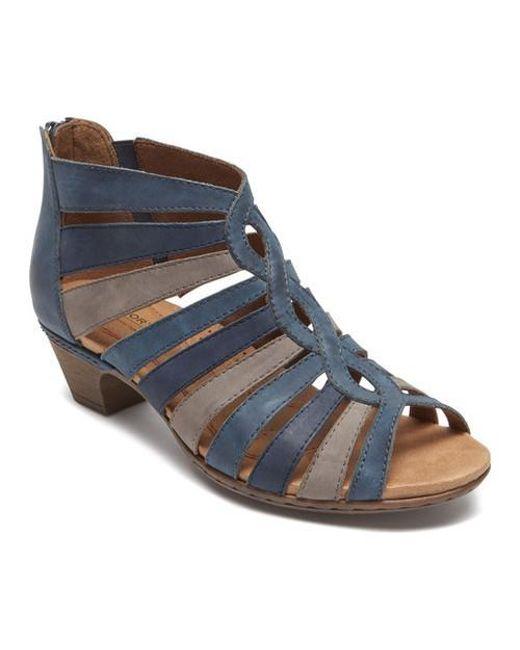 Purchase Online Rockport Cobb Hill Abbott Gladiator Sandal(Women's) -Black Leather Wide Range Of Sale Online Free Shipping Free Shipping Best Wholesale 26hV5uBu