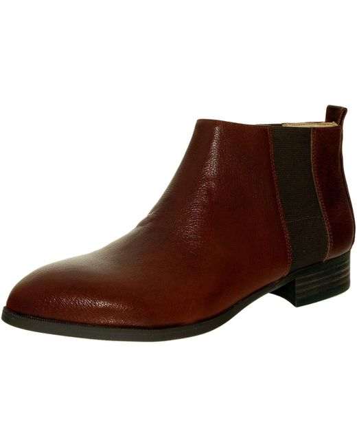 Nine West | Nolynn Leather Cognac/brown Ankle-high Leather Boot | Lyst