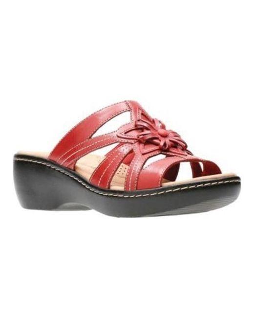 125041ed37ea Lyst - Clarks Delana Venna Slide in Red