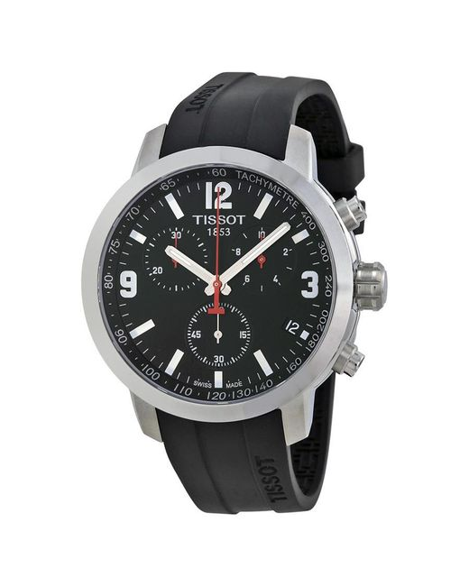 Tissot - Black Prc 200 Chronograph Dial Rubber Watch T0554171705700 for Men - Lyst