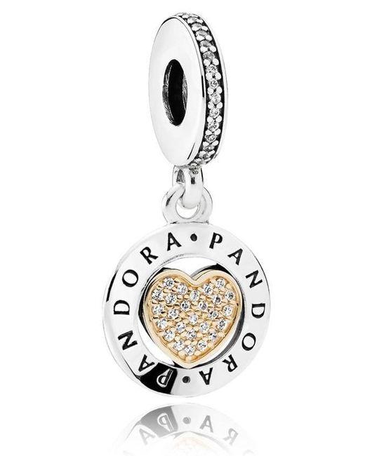 Lyst pandora signature heart pendant charm in metallic pandora metallic signature heart pendant charm lyst aloadofball Gallery