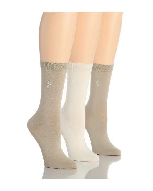 Polo Ralph Lauren - Natural Blue Label 7125 Rl Sport Trouser Sock - Lyst