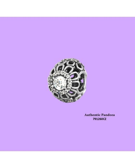 Pandora - Metallic Floral Brilliance In 925 Sterling Silver Clear Cubic Zirconia - Lyst