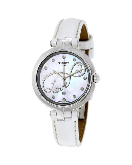 Tissot - Metallic Flamingo Ladies Watch T0942101611101 - Lyst
