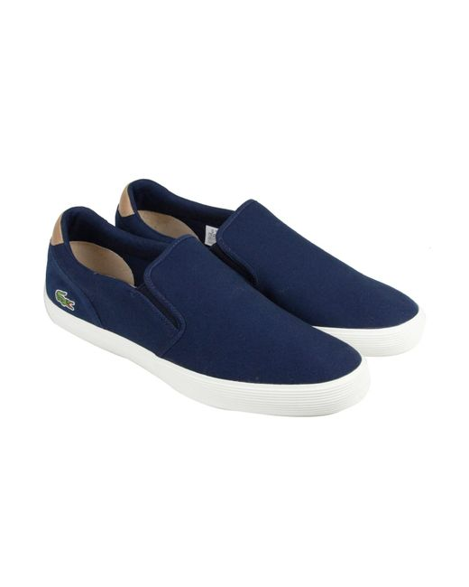Lacoste | Blue Jouer Slip-on 316 1 Cam Navy Mens Lace Up Sneakers for Men | Lyst