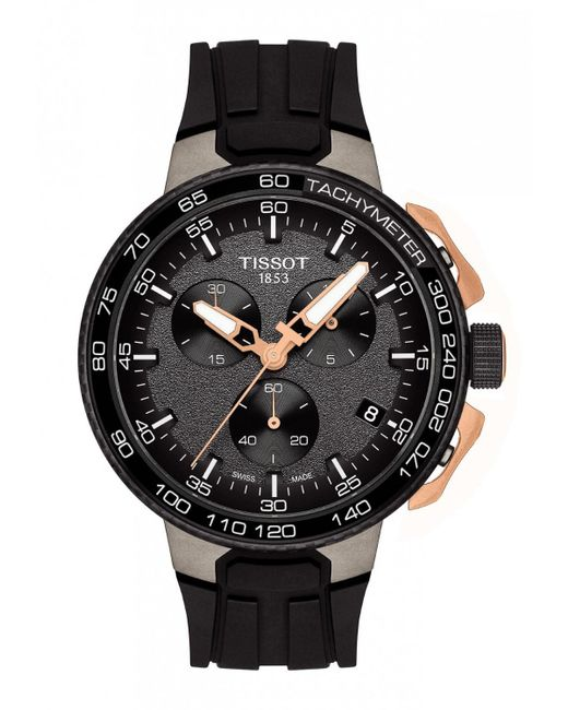 Tissot - Black T111.417.37.441.07 T-race Cycling Watch 44.5mm 316l Stainless Steel Case With And Rose Gold Pvd Coating for Men - Lyst