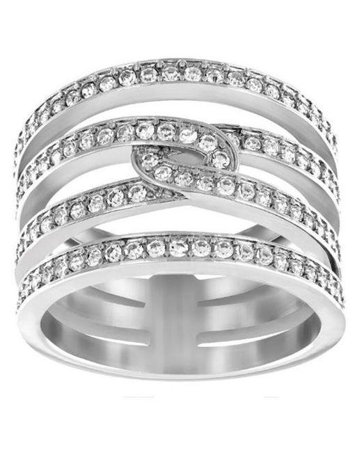 Swarovski | Metallic Creativity Rhodium-tone Crystal Ring | Lyst