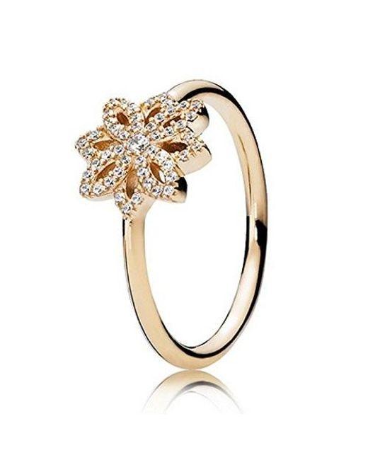 Pandora | Metallic Lace Botanique 14k Gold Ring 150182cz | Lyst