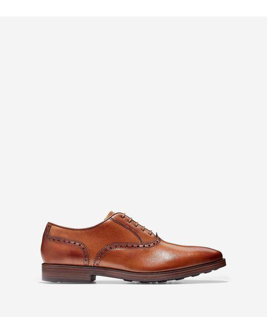 Cole Haan | Brown Hamilton Grand Plain Toe Oxford for Men | Lyst
