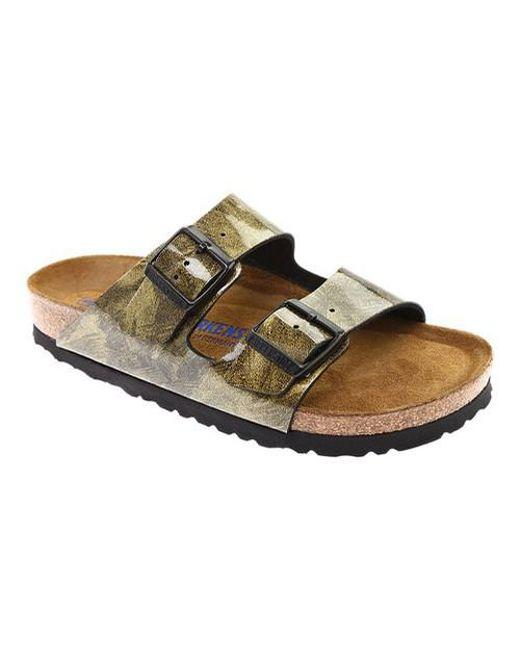 df917156b5ed Lyst - Birkenstock Arizona Soft Footbed Slide in Brown
