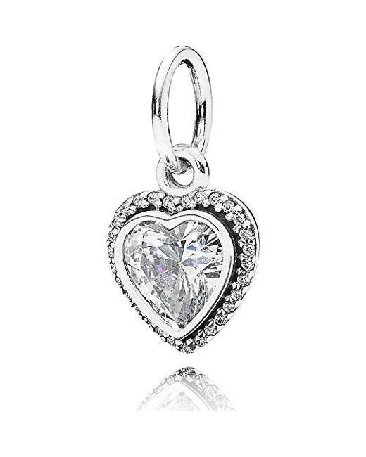 Pandora - Metallic 390366cz Pendant Sparkling Love - Lyst